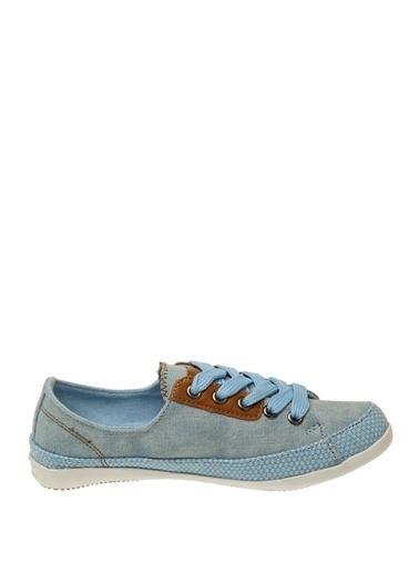 Limon Company Bağcıklı Kadın Babet Ayakkabı Mavi